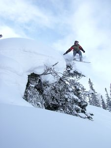 Free Jumping Snowboarder Stock Photo - 3795640