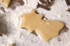 Christmas Gingerbreads Ingredients Stock Image