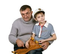 Daddy & Son Stock Photography