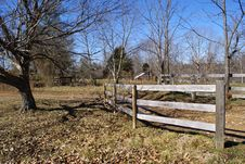 Free Wooden Fence With Trees Stock Image - 3796571
