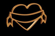 Free Golden Heart Royalty Free Stock Image - 3797166