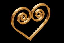 Free Heart Of Gold Royalty Free Stock Photography - 3797167
