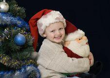 Christmas- Baby Joy Royalty Free Stock Photo