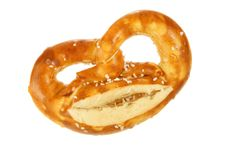 Free Salted Pretzel With Cheese Royalty Free Stock Photos - 3797798