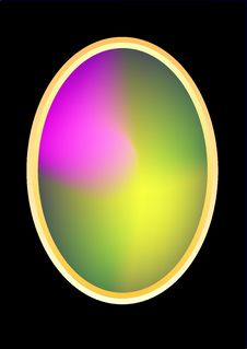 Free Colorful Oval Frame Royalty Free Stock Image - 3797836