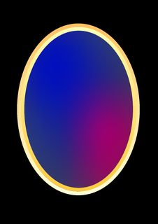 Free Colorful Oval Gradient Frame Royalty Free Stock Photos - 3797838
