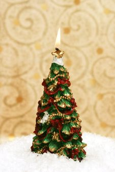 Free Festive New-year Candle Royalty Free Stock Photography - 3798017