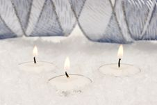 Free Festive New-year Candles Royalty Free Stock Photo - 3798075