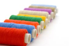 Free Colorful Spools Of Thread Royalty Free Stock Photos - 3798098