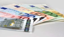 Free Spread Of Euro Banknotes Stock Image - 3798181