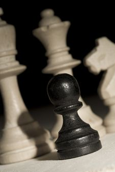 Free Black Pawn Stock Photography - 3798502