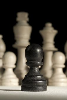 Free Black Pawn Royalty Free Stock Images - 3798509