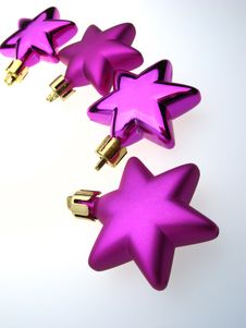 Five Asterisk  Lilac Royalty Free Stock Image