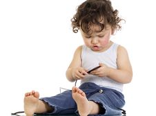 Free Child With Mp 3 Player. Royalty Free Stock Image - 3799326