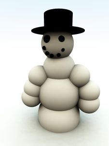 Happy Snowman 1 Royalty Free Stock Photography