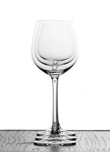 Free Three Wine Glasses Stock Photo - 380880