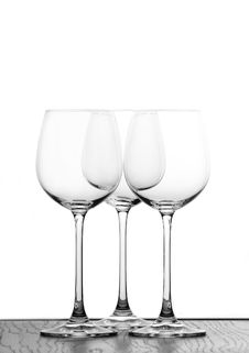 Free Three Wine Glasses Stock Image - 380881