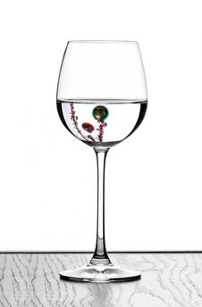 Free Christmas Wine Glasses Royalty Free Stock Photos - 380978