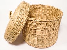 Free Basket With Lid Royalty Free Stock Image - 381986
