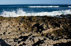 Free Ocean Beating On Rocky Shore Stock Photo - 382360