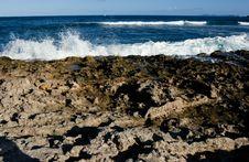 Free Ocean Beating On Rocky Shore Stock Photo - 382360