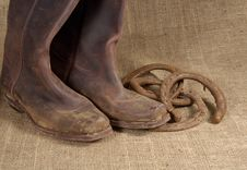 Free Boots And Horseshoes 2 Stock Photo - 383680