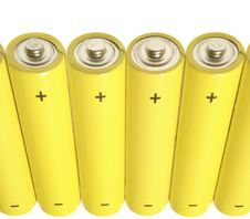 Free Yellow Batteries-1 Royalty Free Stock Images - 385729