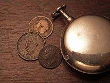 Free Watch And Coins Stock Photos - 386533