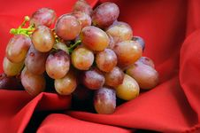 Free Red Grapes On Red Royalty Free Stock Photography - 389577