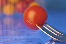 Free Tomato And Fork Stock Photography - 389842