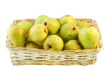 Basket Of Pears. Royalty Free Stock Photography