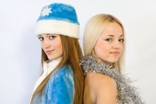 The Blonde And The Brunette Stock Photography