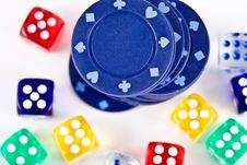 Free Dices And Counters. Stock Photo - 3800140