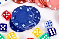 Free Dices. Royalty Free Stock Image - 3800146