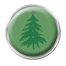 Button To Start Christmas Stock Photography