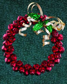 Free Metal Jingle Bell Wreath Royalty Free Stock Photography - 3801497