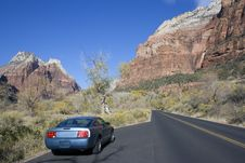 Free Sport Car Driving In Utah. Royalty Free Stock Photos - 3802298
