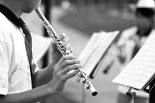 Free Playing The Flute Stock Photography - 3802772
