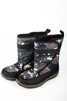 Free Winter Boots Royalty Free Stock Photos - 3803078