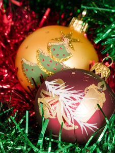 Christmas Tree Balls Royalty Free Stock Photos