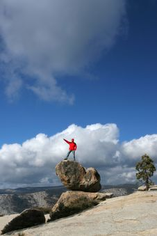 Free Hiker In Yosemite Royalty Free Stock Image - 3803326