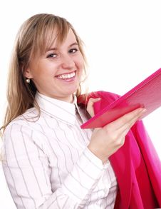 Free Woman With Folder On Hand Stock Images - 3803504