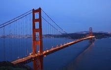 Free Golden Gate Bridge At Twilight Stock Photo - 3803530