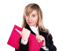 Free Woman With Folder On Hand Stock Images - 3803544