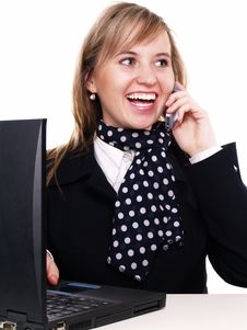 Free Woman Working On The Laptop Royalty Free Stock Images - 3803569