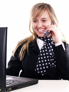 Free Woman Working On The Laptop Royalty Free Stock Photo - 3803615