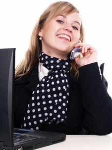 Free Woman Working On The Laptop Royalty Free Stock Image - 3803626
