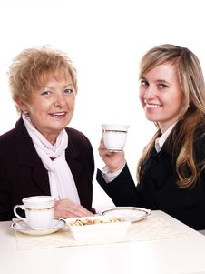 Free Mother And Daughter Drinking Coffee Stock Photos - 3803803
