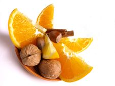 Oranges, Lemon, Cinnamon Royalty Free Stock Photography
