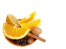 Free Oranges, Lemon, Cinnamon Royalty Free Stock Photography - 3803897